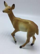 Vintage 6� Hard Plastic Doe Deer Marked Made In Hong Kong