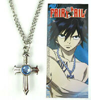 Anime Fairy Tail Gray Jewelry Fullbuster Cross Necklace Pendant Cosplay Toy