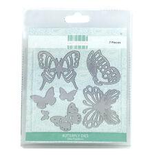 Primera Edición 7 piezas artesanales mariposa muere en la hoja de magnética NUEVO