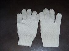 paire   gants femme - point tricot - blancs -