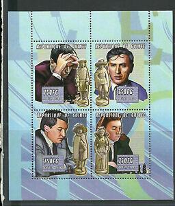 2784/Guinea 2003 2856-2859 ** Schach Schachspieler Schachfiguren