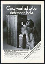 1969 Louis Vuitton steamer wardrobe trunk luggage photo Air India print ad