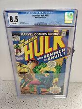 CGC 8.5 INCREDIBLE HULK #182 MARVEL COMICS 1ST HAMMER & ANVIL APP