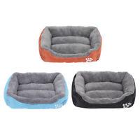 Doux en peluche lit pour animaux de compagnie chien chat coussin de couchage