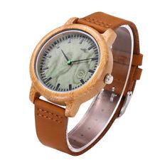 Women's Watches Analog Handmade Natural Bamboo Wood Watches Men Fashion U2L3