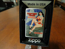 PINUP GIRL SEXY TEMPTING TEASE NOSE ART WWII DRIBEN ZIPPO LIGHTER MINT IN BOX