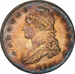 1836 Capped Bust Half Dollar - Lettered Edge - PCGS MS62 - Stunning Eye Appeal!