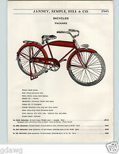 1936 PAPER AD Packard Bicycle COLOR Tank Headlight Truss Fork Bucket Saddle Bike
