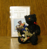 "DEB CANHAM Artist Designs Coll. OLD ADAM, Old Friends Coll. 3.75"" Mohair w/ cat"