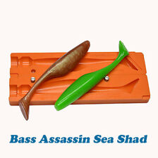 DIY Injection Soft Plastik Lure Bait Mold Swymbait Tail Bass Assassin 3- 5 inch