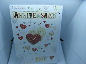 HAPPY WEDDING ANNIVERSARY CARD  GREETINGS CARD