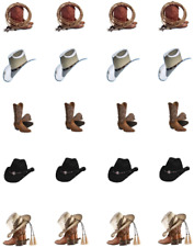 Cowboy Boots & Hats  Waterslide Nail Decals