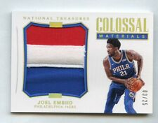 Joel Embiid 2017 National Treasures Colossal Materials Patch #/25