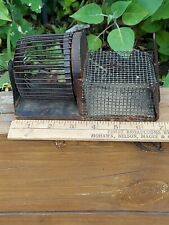 Primitive Vintage Antique Mouse Trap, Live Catch, Wire & Wood w Exercise Wheel