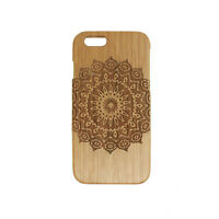 Mandala Flower Wooden Case Back Cover for iPhone X XR XS Max SE 6 7 8 10 S Plus