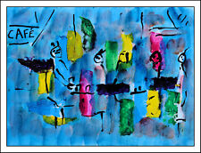 ABSTRACT CAFE   modern art oil painting