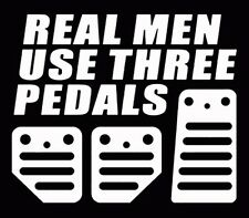 Real men use 3 pedals jdm vinyl turbo racing window decal car window sticker