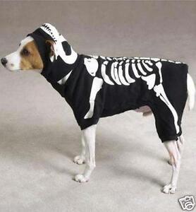 new Dog Halloween Costume GLOW BONES Skeleton  XS xsmall