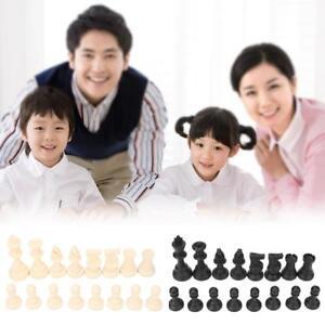 Best Value Standard Tournament Chess Pieces Black Cream Plastic Chessme
