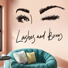 Eye Lashes Extensions Beauty Salon Wall Decor Eyebrows Make Up Wall Sticker TOEL