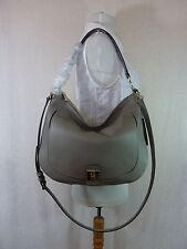 NWT Furla Sabbia Soft Gray Pebbled Leather Jo Hobo Bag $448