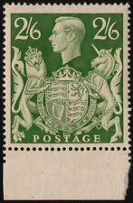 ✔️ GREAT BRITAIN 1942 - GEORGE VI 2'6 SH. - SC.249A ** MNH OG MARGIN [GB02.06]