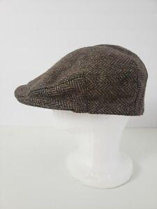 A Harrison Hillhouse Wool Driving Cap Newsboy Flat Hat Sizes (1) 7 1/3 (2) 7 3/8