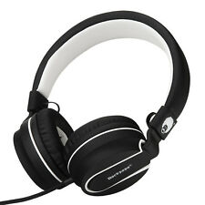 RockPapa Foldable Headphones Headsets for iPhone iPod iPad MP3/4 DVD Black White