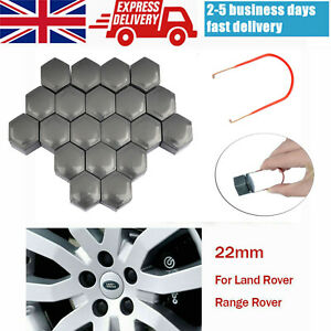 20x Grey Wheel Nut Caps Bolt Locking Covers 22mm for Range Rover MK L322 + Tool