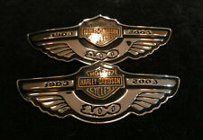 Very Rare OEM Harley 2003 100th Anniversary Gas Fuel Tank Emblems Badges Logos