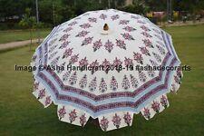 Hippie Indian Ethnic Hand Block Printed Garden Umbrella Patio Beach Sun Shade