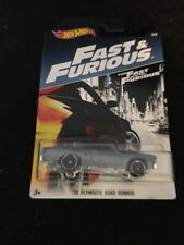 HOT WHEELS FAST AND FURIOUS 70 PLYMOUTH ROAD RUNNER SILVER 3/8 2016