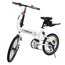 """20 """"vélos pliants blancs W/ Réflecteurs de roue et lumière de batterie de LED"""