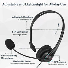 USB Headset with Microphone Noise Cancelling PC/Laptop Headset for Home Office