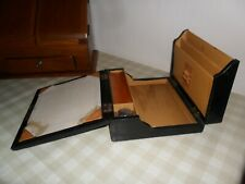 Antique / Vintage Wood / Leather Campaign Writing Case / Box