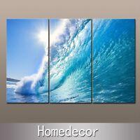 3pcs/set New Rising Wave Seascape canvas picture Painting prints wall art decor