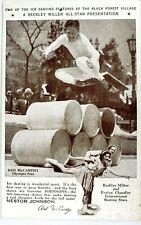 Chicago Century of Progress 1934 Olympic Ice Skaters Postcard