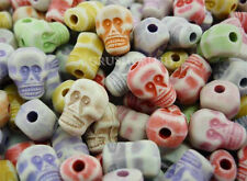 FREE SHIP - 50pcs Color Skeleton Skull Beads Charm Pendant Horror Halloween F528