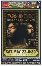 NAS & DAMIAN MARLEY 2010 Gig POSTER Eugene Oregon Concert