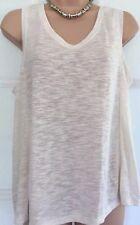 NEW NEXT 16 ladies cream slub longline sleeveless tunic vest top