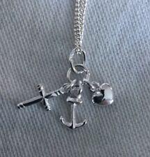 Baby Taufe Glaube Liebe Hoffnung + Kette 925er Silber