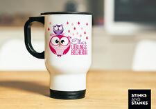 Thermobecher, Kaffeebecher, Togo Becher, Eule, Pink, Lieblingsbecher, Name