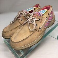 Sperry Top-Sider Intrepid Girl's Size 4M Tan Sequins Boat Shoe YG47805A      OFT