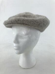 Vintage L. L. Bean Wool Nylon Blend Knit Newsboy Cabbie Cap Hat With Ear Flap