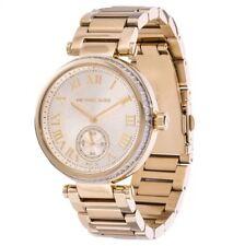 Michael Kors Womens Skylar Gold-Tone Stainless Steel Bracelet Watch MK5867 NEW