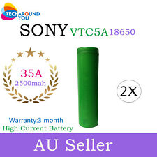 2x Sony US18650 VTC5A 2600mAh 35A HIGH CURREN Drain Rechargeable Lithium Battery