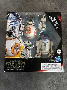 PACK De 3 FIGURINES Collection STAR WARS Disney - R2-D2, BB-8, D-0 - Hasbro Neuf