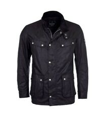 Barbour International Mens Duke Wax Jacket - Black - Small - New with Tags