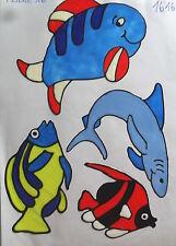 Window Color Fensterbilder Fische Nr.3 grau