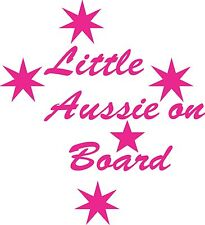 Little aussie On Board Sticker 175 mm x 160 mm Marine Grade material.